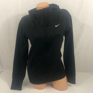 [Nike] Therma Fit Full Zip Black Hoodie